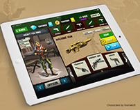 Blitz Brigade UI/UX Design test (Gameloft)