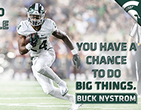 2017 Michigan State Football Motivational Quote Banners