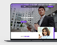 Business Consulting Website PSD Template