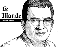 Stipple portraits for Le Monde hors-série