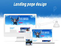Landing page sky jumping