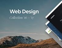 Selected Web Designs 2016 - 2017