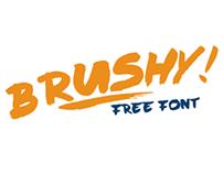 Brushy - free font