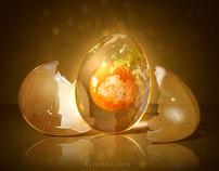 Egg Planet. Creative photo manipulation.