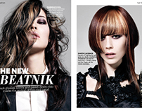 Hair Ideas Magazine: Layout Design & Typography