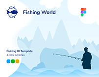 Fishing World – Landing page UI Template