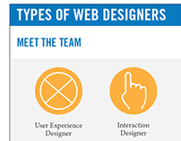 Infographic on Different Types of Web Designers