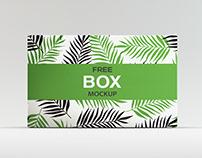 Download Free Box Packaging Mockup (PSD)