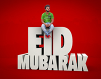 Eid Mubarak Photo Manipulation 3D Work
