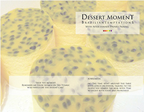 Dessert menu design + creative concept