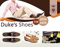 Duke's Shoes Sample Flyer