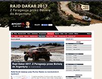 Dakar page layout