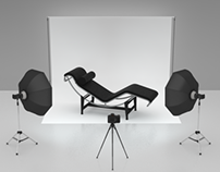 Studio photography lighting renders
