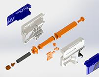 exploded Nerf gun