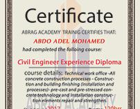Abrag academe certificate