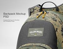Backpack PSD Mockup