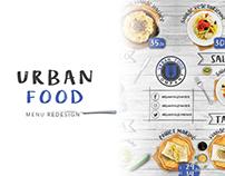 Urban Food menu redesign