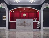 Podol grad vintage hall # 3 3d visualization