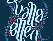 """Valle - Ellen"" Ambigram Print in Frame"