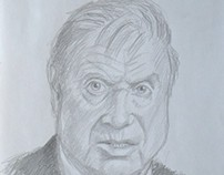 Portrait of Francis Bacon by Kevin Geary