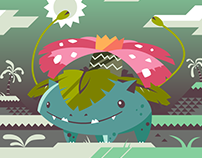 Radio Gosha x Pocket Monsters #003 Venusaur Animation