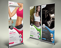 Fitness / GYM Roll-up Banner