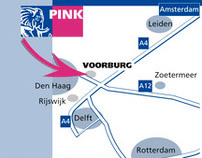 Routekaarten Pink Education