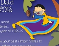 Arabic First Birthday Invite