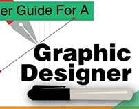 Career guide for a graphic designer- infograhic
