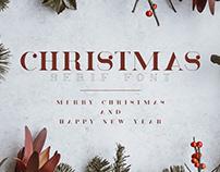 Christmas - Serif font (free)