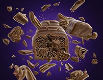 3D Chocolate - Cadbury Twril Advertising Imagery