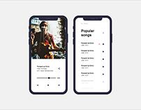Music App Ui - Work in progress