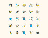 25 Corporate Business Colored Icons