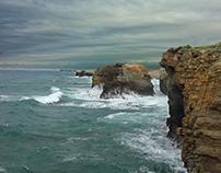 Wild sea in Galicia