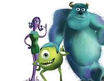 Monsters Inc. Illustration