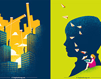Pearson: Rebranding Illustrations