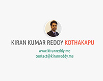 Kiran Kumar Reddy Kothakapu - Digital Marketing Special