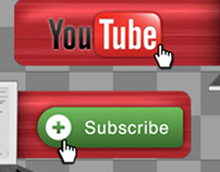 YouTube Subscribe Lower 3rd Bug - 3 Styles + Alpha