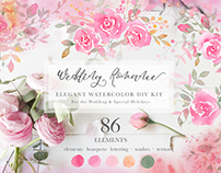 Wedding Romance: Elegant Watercolor Collection