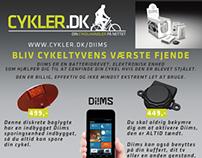 """Add for www.cykler.dk - """"Aktiv Træning"""" Magazine 2013"""