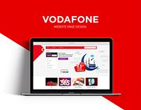 Vodafone Page Design