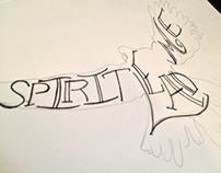 Spirit Lead Me - Handdrawn Typography Process
