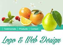 Logo and Web design for Jessica Giuiffre