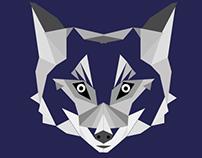 Lobo en diamantes