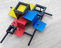 Mondrian Brooch
