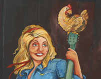 Dolly Parton and the Chicken