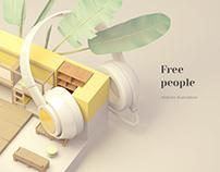 Free People / illustrations