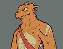 Rhyaex - Lizardfolk Barbarian