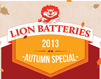 Lion Batteries Internal Advertising