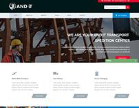 Transport Website Template Design